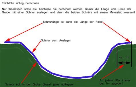 Folie Richtig Kleben by Teichfolien Berechnen Und Messen Teich Filter