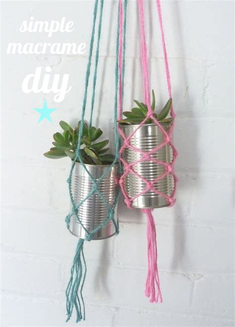 Diy Macrame Plant Holder - beachcomber simple macrame diy