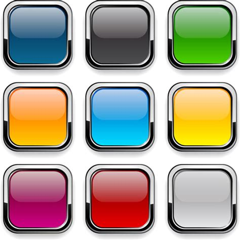 Car Wallpaper Apps Png Icon by App Button Icons Colored Vector Set Free Vector In