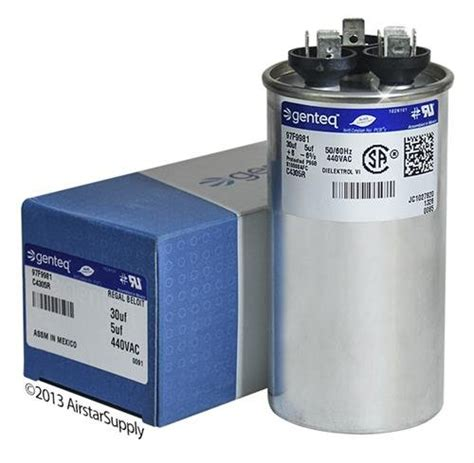 2 5 mfd capacitor price list packard prcfd305 30 5 uf mfd x 440 vac genteq replacement dual capacitor c4305r 97f998