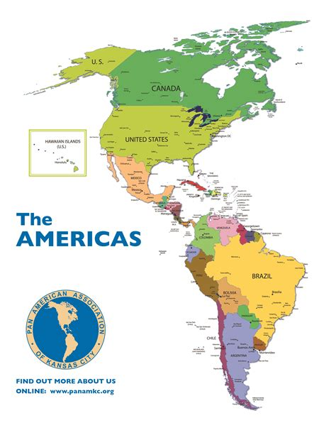 the americas map maps pan american association of kansas city