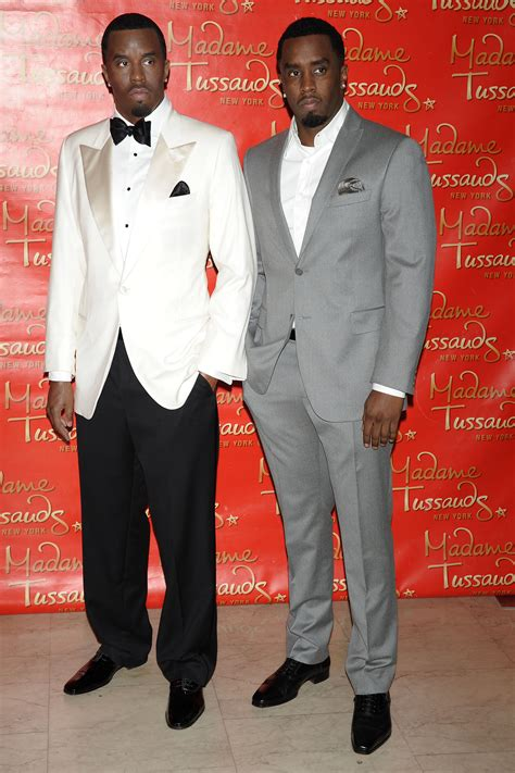 p figure diddy combs unveils wax work at madame tussauds