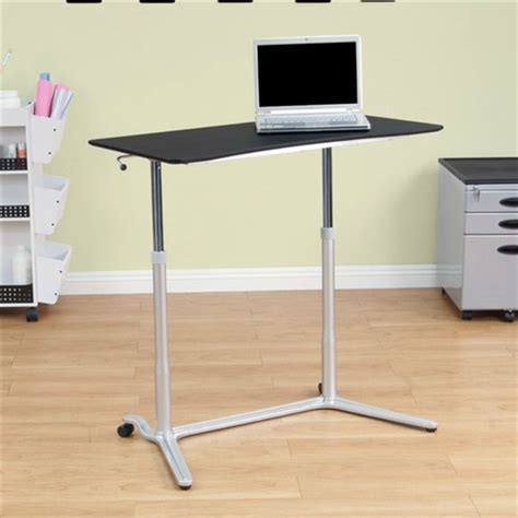 Modern Stand Up Desk Modern Ergonomic Sit Stand Up Desk In Black Finish Fastfurnishings