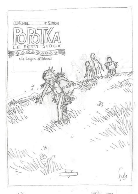 projet de couverture t1 - Popotka le petit sioux - Fred Simon