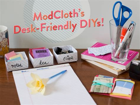 Desk Decor Diy Craft Some Cubicle Cuteness With 3 Desk Friendly Diys