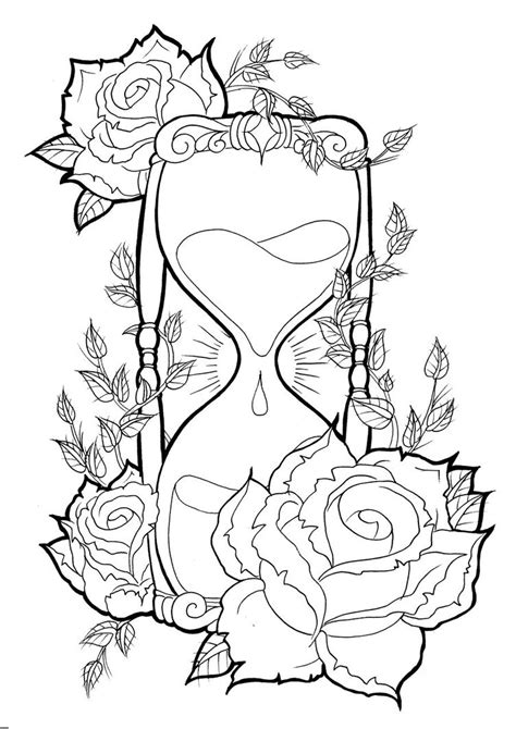 hourglass and rose tattoo hourglass tattoos designs ideas and meaning tattoos for you