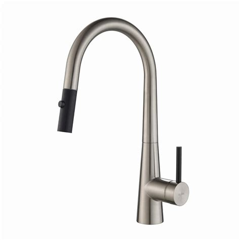 kraus kitchen faucets kraus crespo single handle pull kitchen faucet with dual function sprayer in stainless