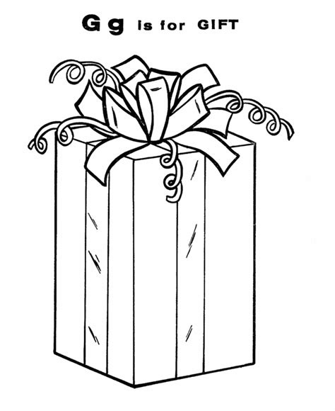 coloring pages of letter box gift coloring page coloring home