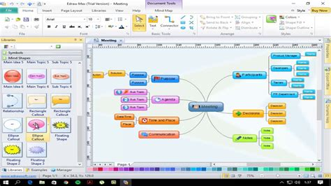 membuat mind map dengan edraw 14 funcionamiento edraw mind map youtube