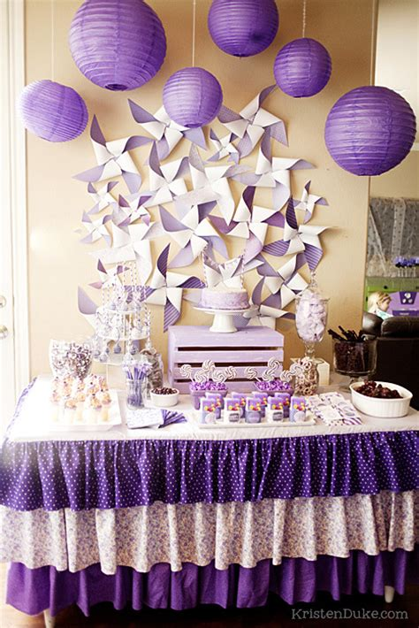 purple pink theme bridal wedding shower party ideas pretty purple party