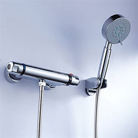 Thermostatic Faucets by Brass Thermostatic Shower Faucet With Handshower