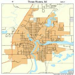 Three Rivers Michigan Map three rivers michigan street map 2679760
