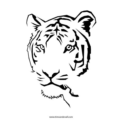Tiger Template Printable tiger stencil quotes