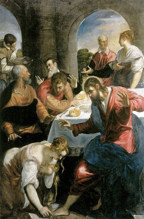 house of banquet the banquet in the house of simon painting by tintoretto