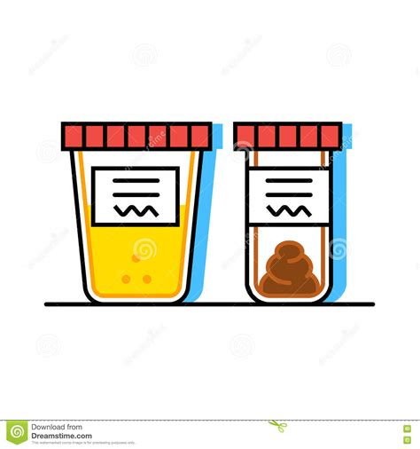 urine and fecal analysis flat style containers for