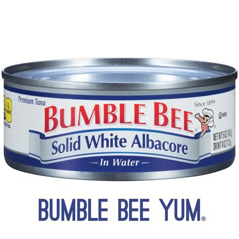 solid white albacore tuna in water bumble bee tuna