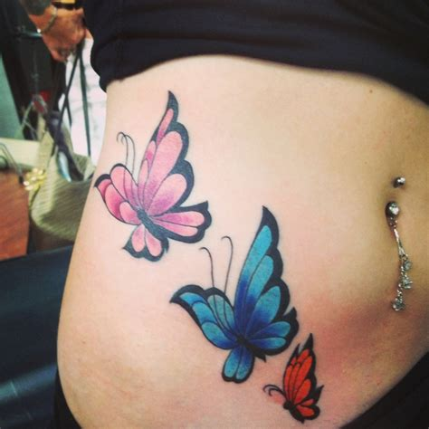 tattoo butterfly on stomach butterfly tattoo on side of stomach i plan on adding