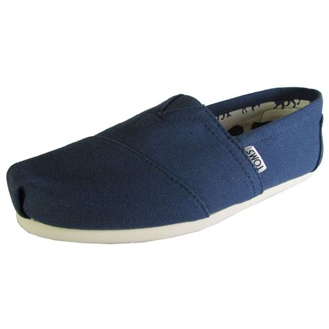 Toms Shoes Canvas With Box toms mens classic canvas slip on casual loafer shoe