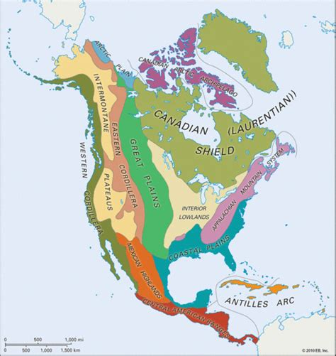 american maps regions six major geographic regions of america images