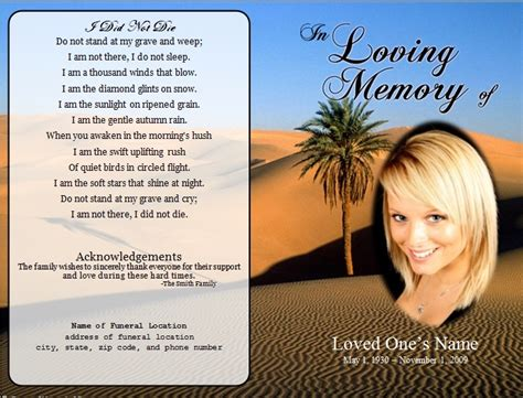 memory card funeral template 73 best printable funeral program templates images on