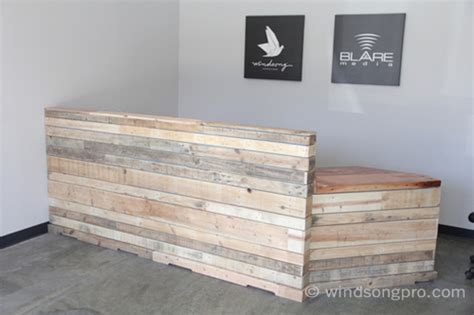 reclaimed wood front desk reclaimed reception desk windsong productions