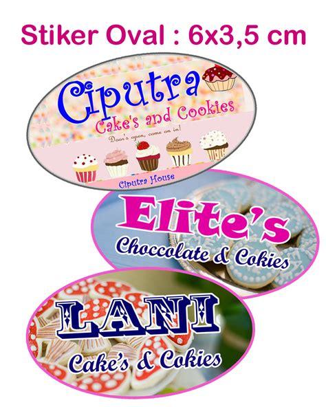 Stiker Label Produk Kemasan Kue Cake Cookies Makanan Pklsk 092 97 daftar harga kue kering murahmurah buruan cek di