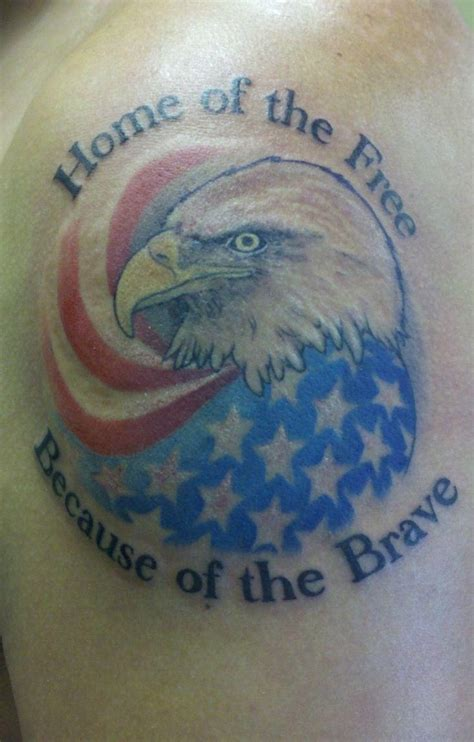 cool patriotic tattoo with eagle and us flag tattoos