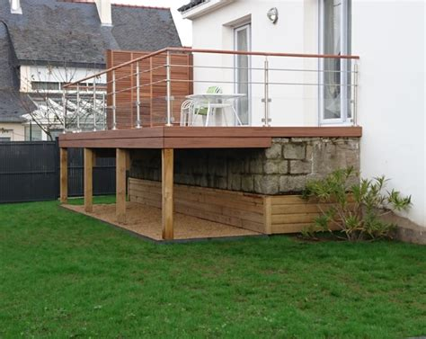 Terrasse Pilotis Bois by Nivrem Plan Gratuit Terrasse Bois Pilotis Diverses
