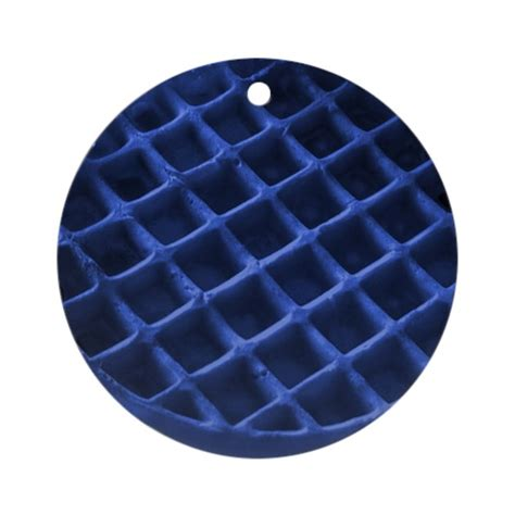 blue colored waffles blue waffle ornament by bluewafflets