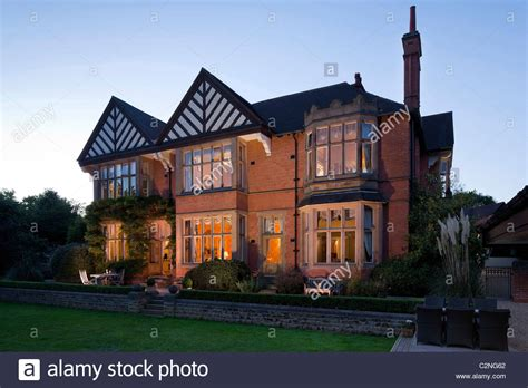 arts and crafts house traditional arts and crafts house exterior at dusk stock photo royalty free image 36123754
