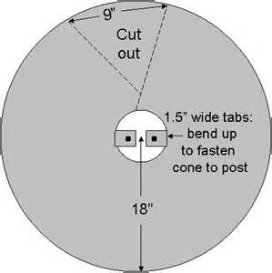 sheet metal cone template conical baffle how to make a predator guard for a