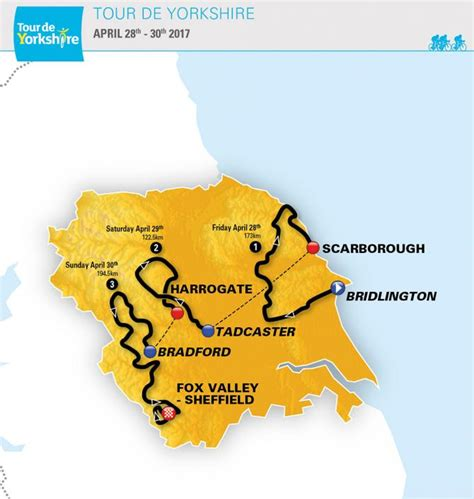 the 2017 tour de yorkshire see maps of the routes tyne tees itv tour de yorkshire 2017 cyclingnews com