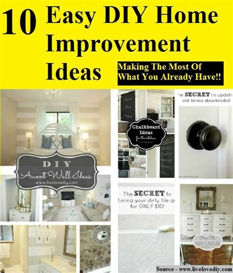 10 easy diy home improvement ideas home and tips