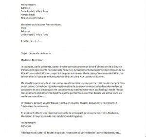 exemple de lettre de motivation pour une demande de bourse exemples de cv