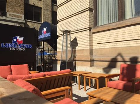 Lone Patio Reviews by Bar Area Picture Of Lone Grill Toronto