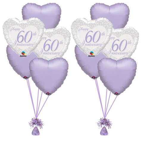 Welcome Home Baby Decorations by Happy 60th Anniversary Heart Bunch Magic Balloons