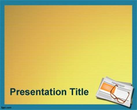 powerpoint themes journalism newspaper powerpoint template