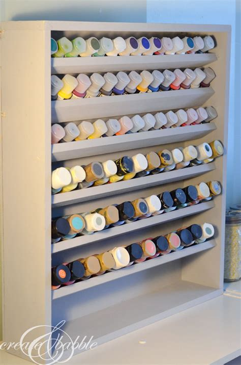 Shelf Paint by Diy Paint Storage Shelf Create And Babble