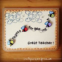 Handmade Teachers Day Cards - m203 thanks for bee ing a great