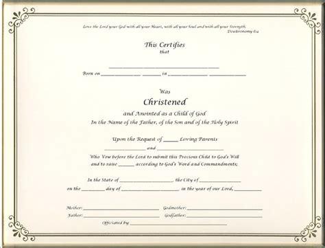 free editable baptism certificate template free editable baptism certificate template