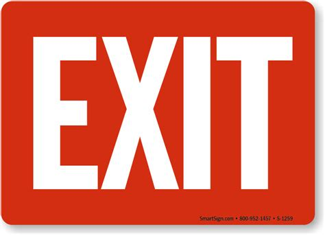 Exit Sign by Exit Signs Exit Door Signs