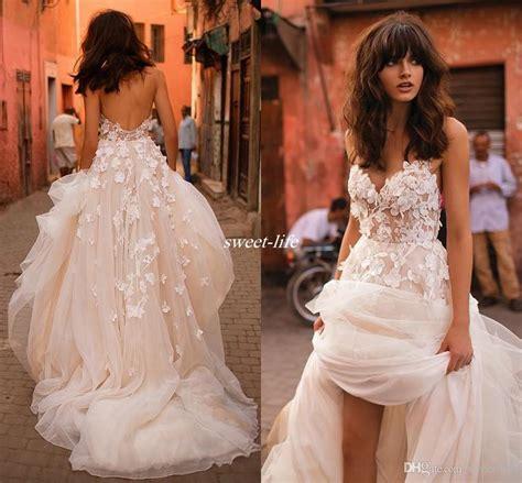 3d wedding discount liz martinez wedding dresses 2017 with 3d floral v neck tiered skirt backless