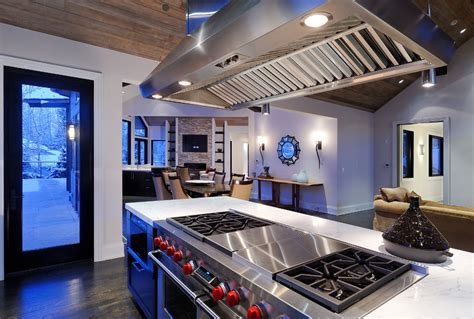 Black Butcher Block Kitchen Island Hibachi Stove Top Kitchen Contemporary With Benihana Grill
