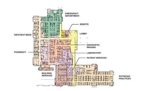 hospital emergency department floor plan floor plans nantucket cottage hospital
