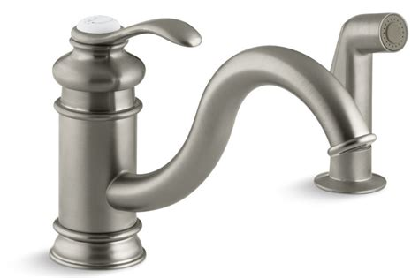 kohler fairfax kitchen faucet kohler fairfax 174 single handle with sidespray kitchen faucet brushed nickel k 12176 bn