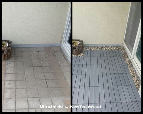 composite patio tiles fr before after newtechwood ultrashield composite