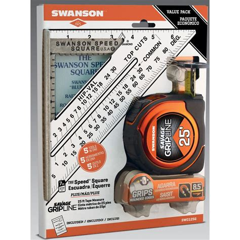 Swanson Plumbing And Heating by Swanson Speed Square And Gripline 25 Ft Measure Bundle Sw0125g The Home Depot
