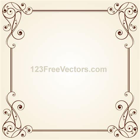 Wedding Vintage Border Design by Vintage Ornate Frame Border Design Vector By