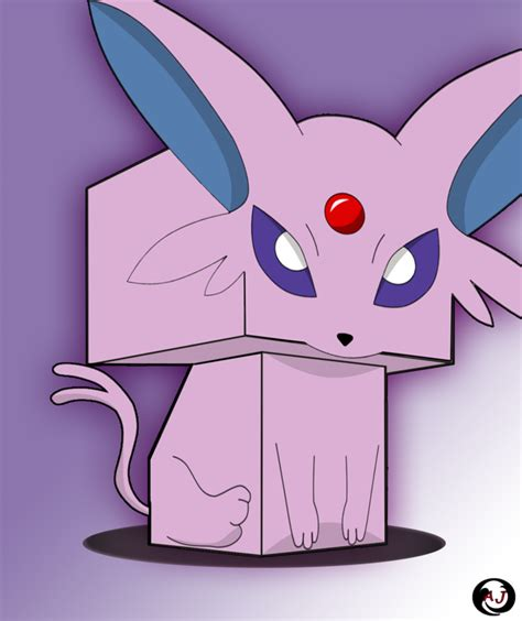 Espeon Papercraft - 3d espeon by jaramillo13 on deviantart