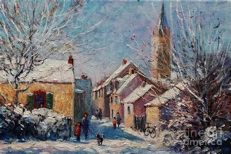 A Painting A Day by Teillay A Snowy Day Painting By Jeanette